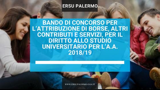Comunicato stampa. Università, Accademie, Conservatori: al via bando di concorso ERSU per borse di studio, posti letto e ristorazione gratuita per l'anno accademico 2018/2019.
