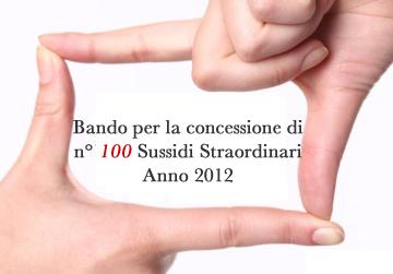 Posticipo Graduatoria Sussidi Straordinari Anno 2012