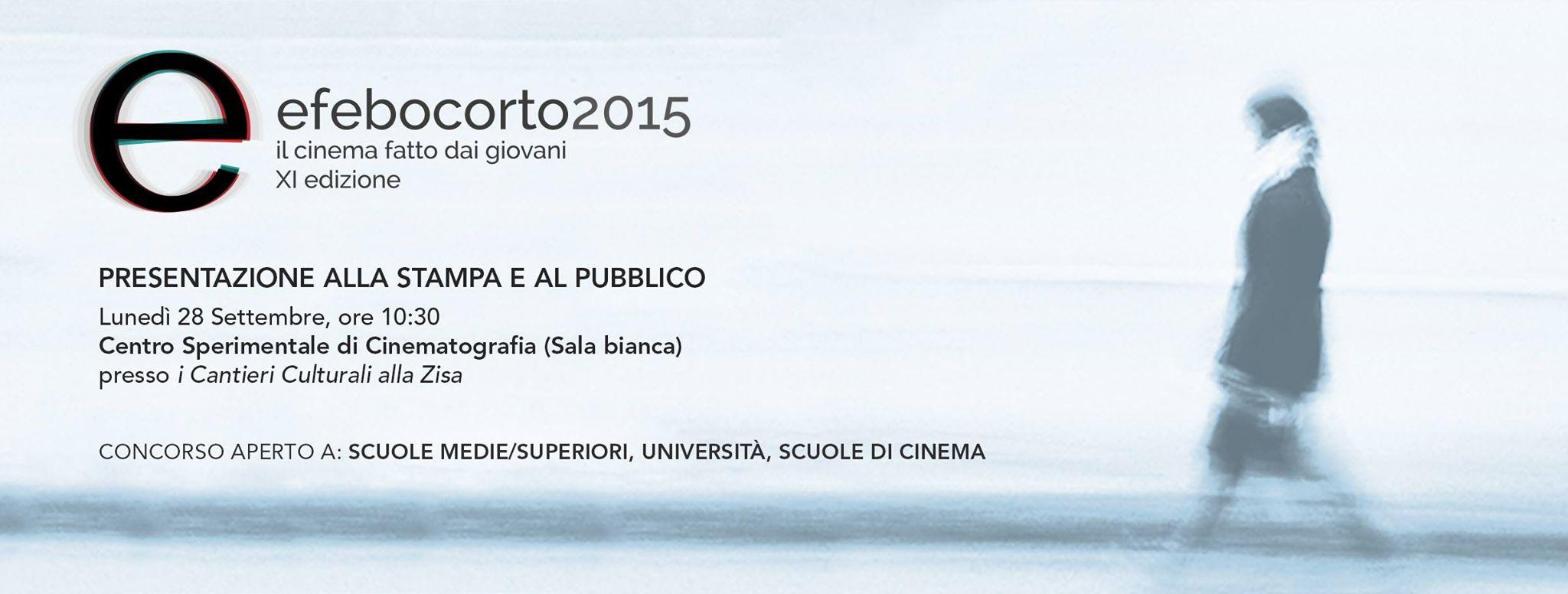 """Cinematografia, cortometraggi: questa mattina alle 10,30 presentazione dell'XI° edizione di """"Efebo Corto Film Festival. Al via le registrazioni online."""