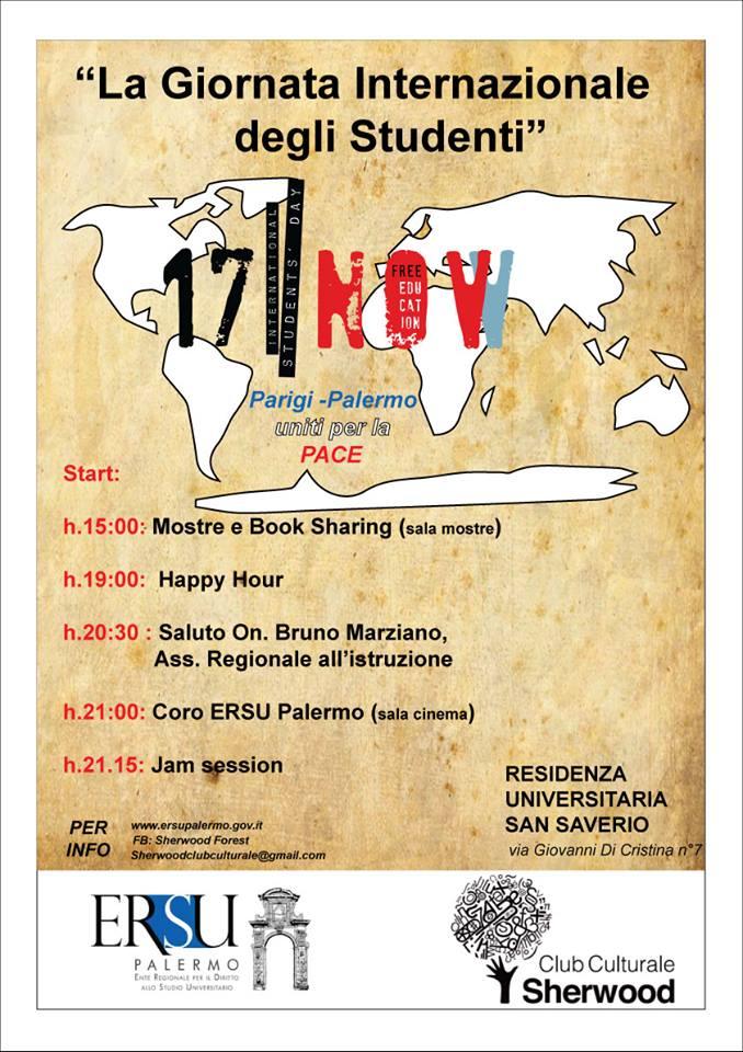 """Universita', Ersu: """"La marsigliese"""" al San Saverio per solidarieta' alle vittime del terrorismo. L'Ersu Palermo espone il tricolore francese nei propri uffici."""