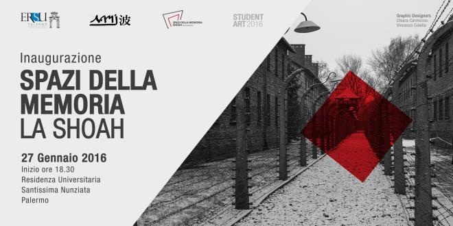 """Ersu: Mercoledì 27 gennaio inaugurazione, a Palermo, dello """"Spazio della memoria"""" dedicato alla Shoah"""