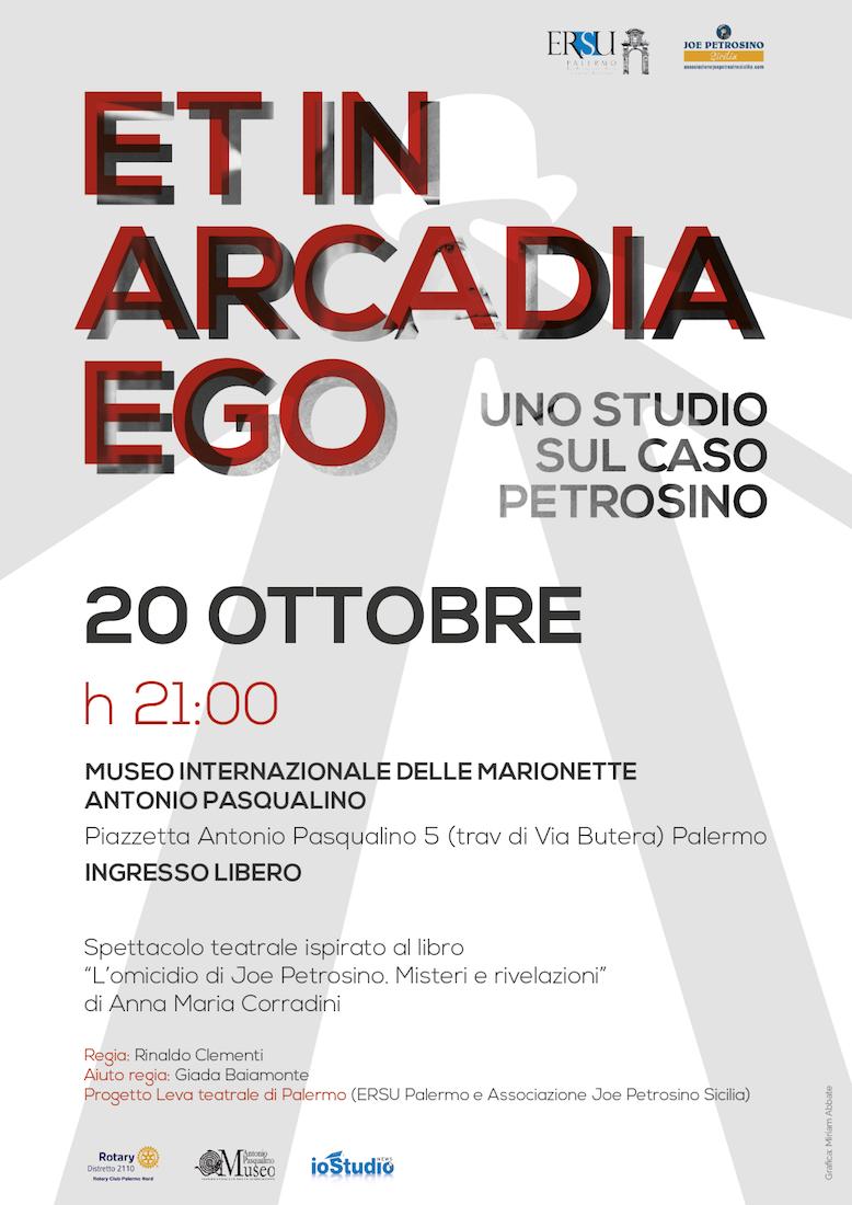 """""""Et in Arcadia Ego. Uno studio sul caso Petrosino"""", giovedì 20 Ottobre, alle ore 21, presso il Museo Internazionale delle Marionette"""