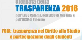"""Giornata della Trasparenza 2016 – FOIA: """"trasparenza nel Diritto allo studio e partecipazione degli studenti."""