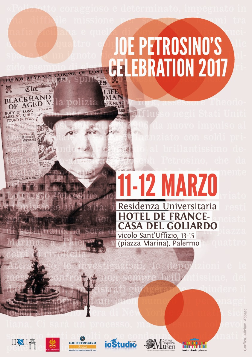 Joe Petrosino Celebration 2017: il poliziotto italo-americano al centro delle iniziative del week end (sabato 11 e domenica 12 marzo)