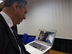 Il Commissario Straordinario Roberto Rizzo  in videoconferenza con i colleghi di Agrigento