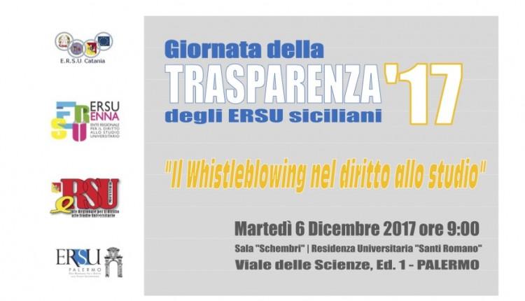 """Giornata Della Trasparenza 2017 – """"Il Whistleblowing Nel Diritto Allo Studio"""""""
