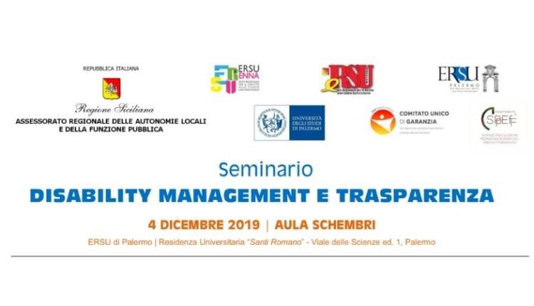 Seminario DISABILITY MANAGEMENT E TRASPARENZA