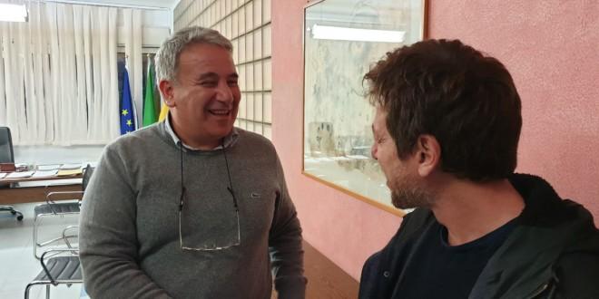 L'attore Claudio Gioè al Santi Romano. Il saluto del presidente Ersu Di Miceli