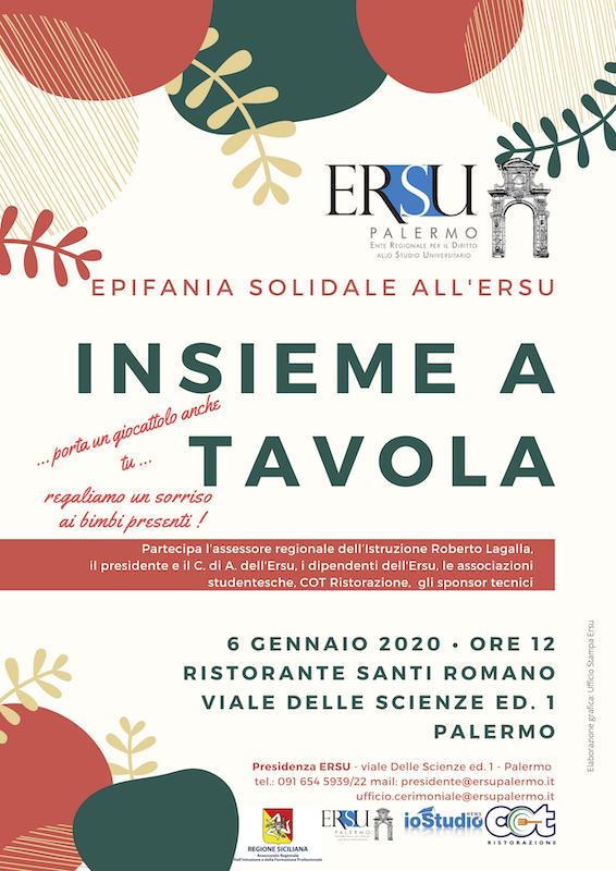 locandina definitiva 6 gennaio 2020 • ore 12 Ristorante Santi romano viale delle scienze ed. 1 palermo (2)