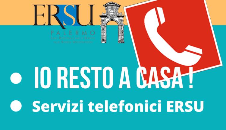 IO RESTO A CASA, URP e servizi telefonici ERSU