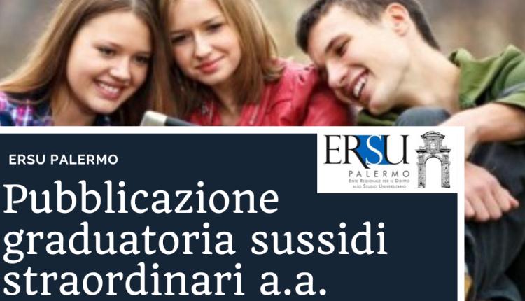 Pubblicazione graduatoria sussidi straordinari a.a. 2019/20