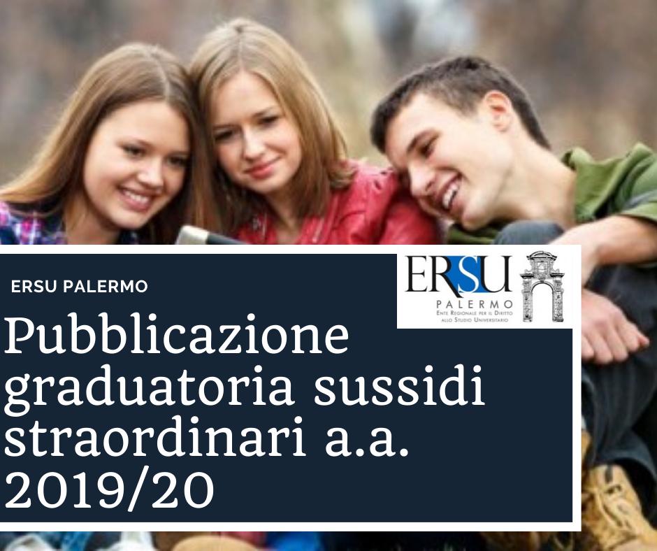 Pubblicazione graduatoria sussidi straordinari a.a. 2019_20