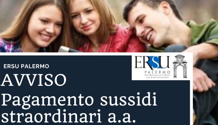 Avvio procedure per il pagamento del sussidio straordinario a.a.2019/20