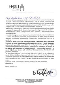 La lettera agli studenti del professor Giuseppe Di Miceli