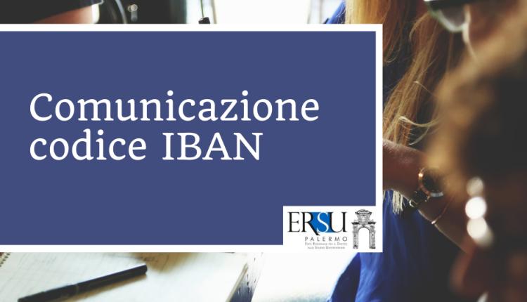 Comunicazione codice IBAN
